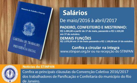 STINPAN libera a circular da CCT 2016/2017 do município do Rio de Janeiro