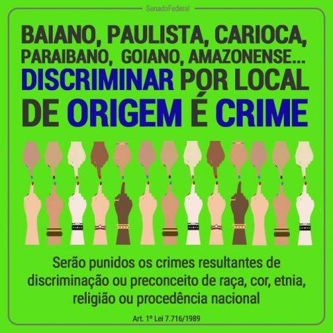 Discriminação por local de origem