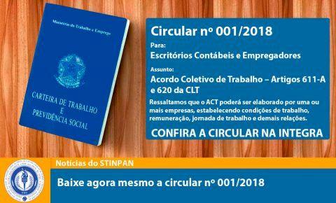 Circular nº 001/2018 Para: Escritórios Contábeis e Empregadores