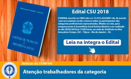 Edital CSU 2018