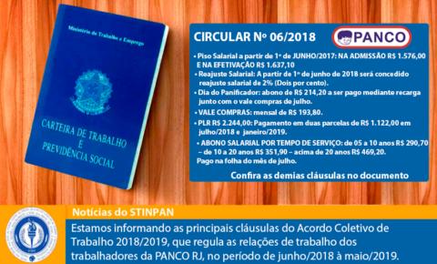 Acordo Coletivo de Trabalho 2018/2019 – PANCO RJ